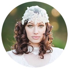 Lace and Pearl Bridal Cap