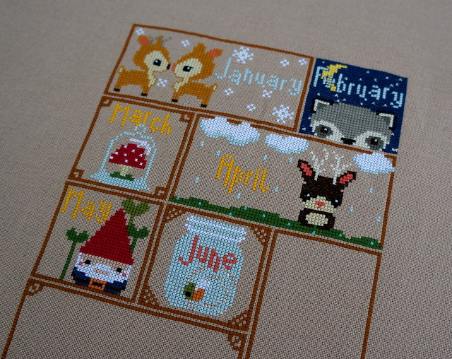 Woodland Sampler Progress
