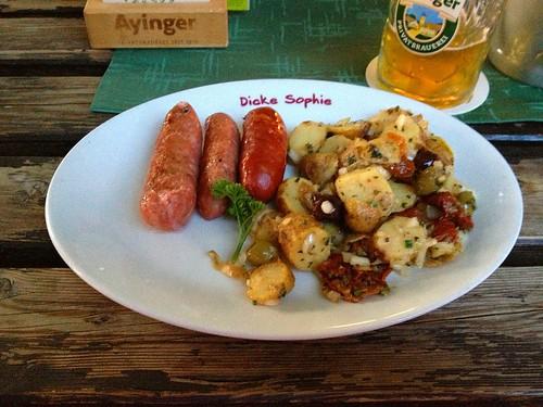 Chorizo & Salsiccia an mediterranem Kartoffelsalat / Chorizo & Salsiccia with editerranean potato salad