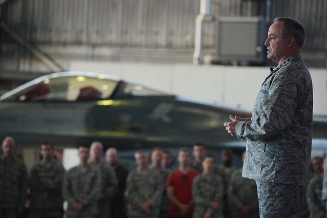 General Welsh hosts Airman's call at Spangdahlem