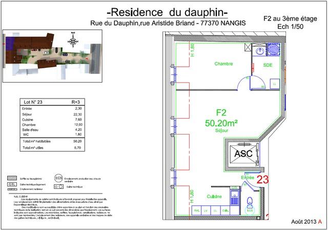 Résidence du Dauphin - Plan de vente - Lot n°23