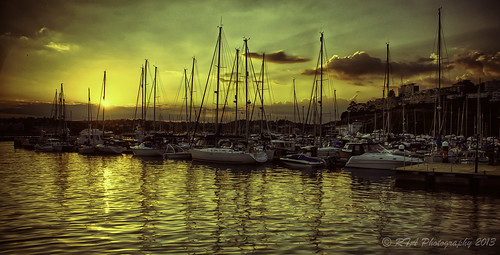 sunset boats harbour torquay masts 3xp nikond5000 mygearandme mygearandmepremium lightroom4 hdrefex
