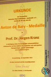 Anton de Bary_Medaille