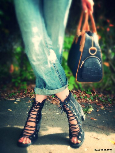 Free People Boots and Glass Handbags on Gift Style Blog Gave That