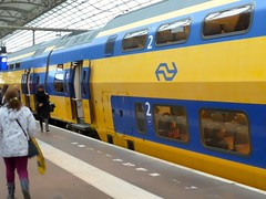 NS Train at Amsterdam Centraal Station