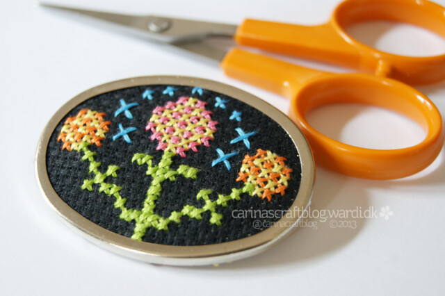 Cross stitch brooch..