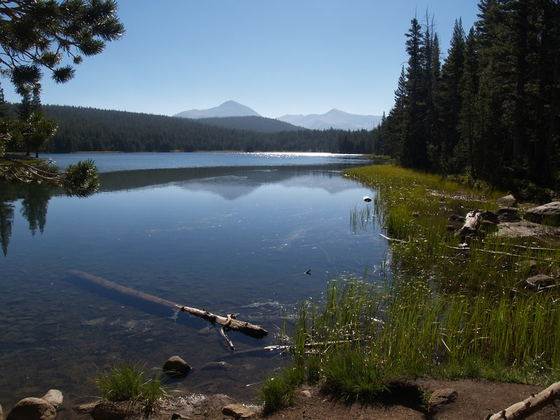 Dog Lake with Mount Dana and Mount Gibbs in the distance