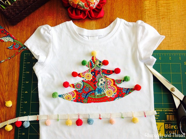 T-Shirt Tutorial --> Christmas Tree Appliqué In 10 Easy Steps