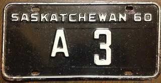 SASKATCHEWAN 1960 ---A CLASS TRUCK LICENSE PLATE