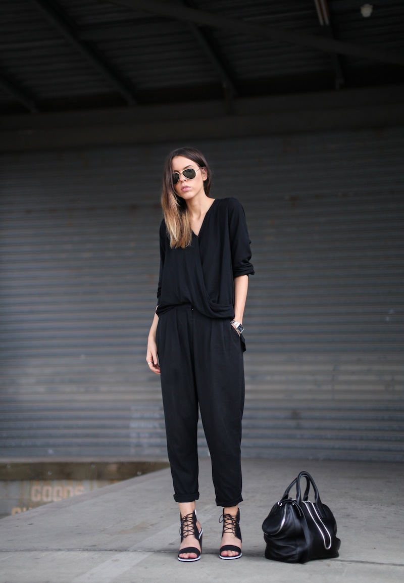 modern legacy fashion style blogger australia senso riley heels witchery wrap blouse zimmermann pants alexander wang chain tote bag armani watch (2 of 6)