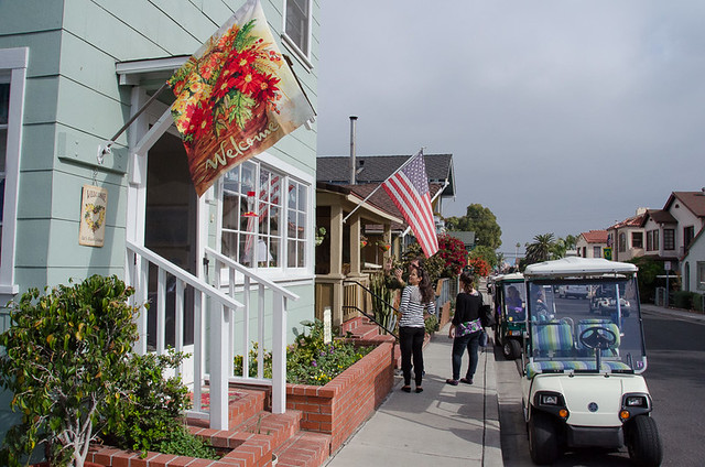 The quaint streets of downtown Avalon