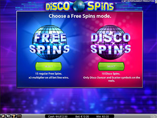 Disco Spins free spins feature