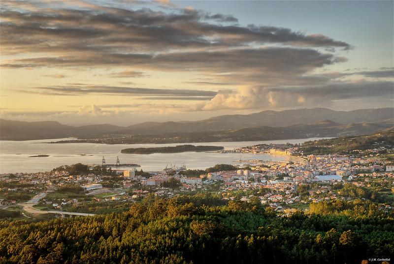 Villagarcía de Arosa (Vistas desde Lobeira)
