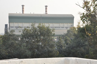View of WtE plant from a balcony in Sukhdev Vihar