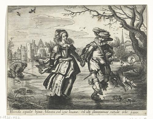 016-Invierno, Daniël van den Bremden, Adriaen Pietersz. van de Venne, 1625 - 1630-Rijkmuseum