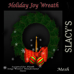 AD Holiday Joy Wreath
