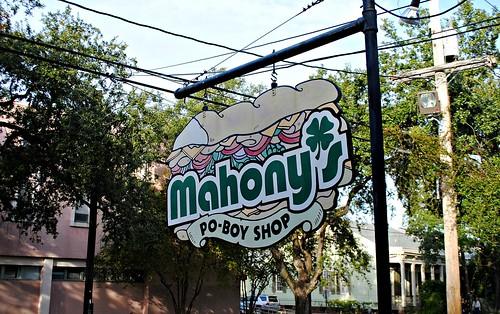 mahonys front sign