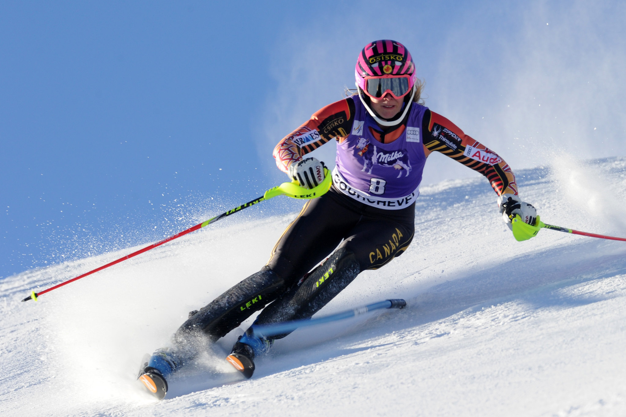 Gagnon in action during the slalom in Courchevel, FRA