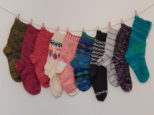 Singleton Socks of Shame, year end 2012