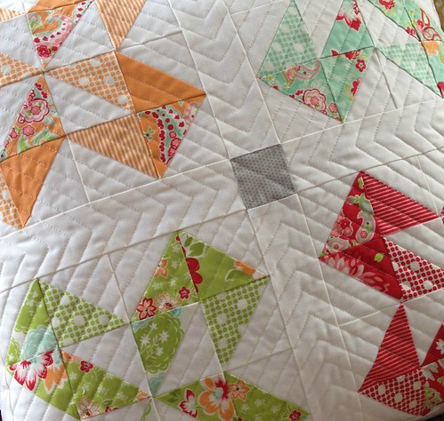 Scrappy Colorado quilting detail