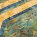 237_Navy Landscape Batik Gold Placemat_c