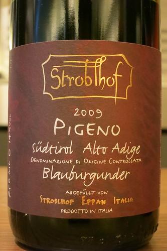 Stroblhof, Alto Adige Blauburgunder Pigeno 2009