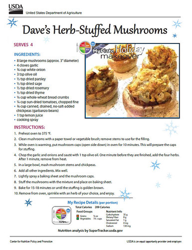 Dave's Herb-Stuffed Mushrooms recipe