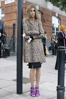 Carine Roitfeld Leopard Print Coat Celebrity Style Women's Fashion