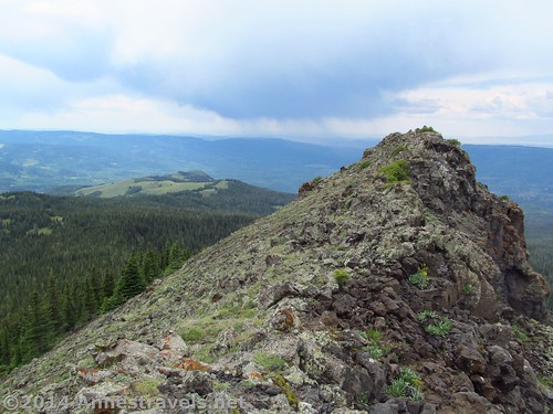 Finally at the top of Pyramid Peak, Flat Tops Wilderness Area, Routt National Forest, Colorado