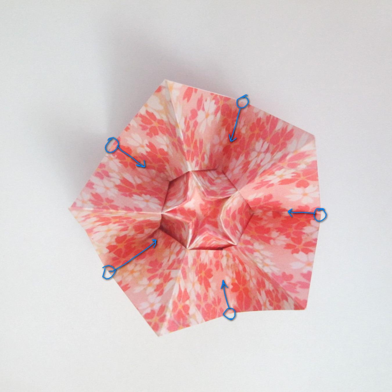 สอนวิธีการพับกระดาษเป็นดอกมะเฟือง (Origami Carambola) 026