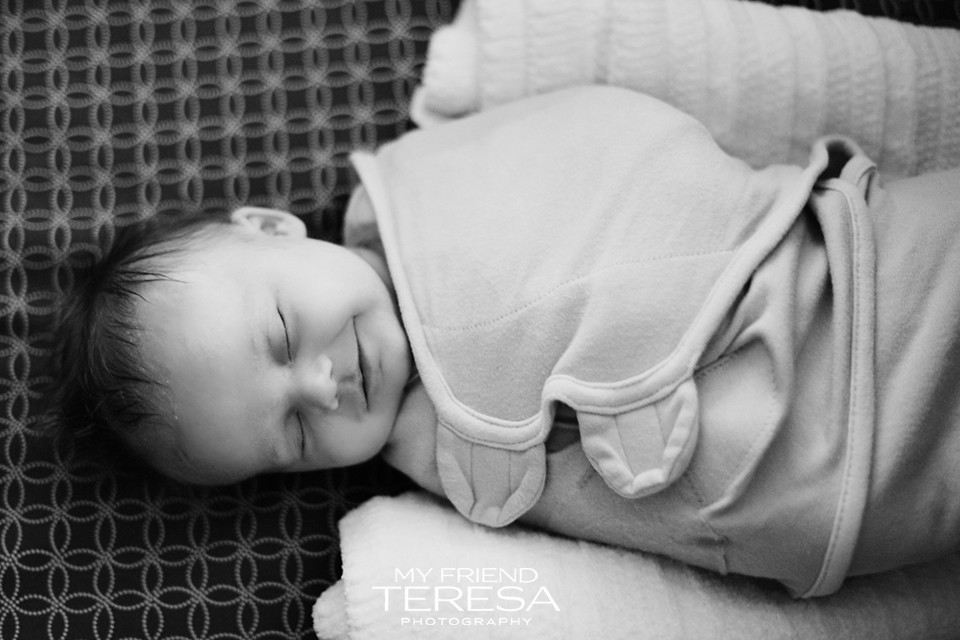 Baby smiling, My Friend Teresa Photography, Cary Newborn Photography