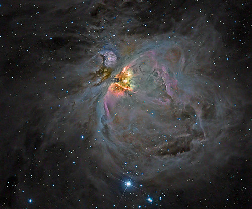 M42 Orion Nebula - DSLR colour and CCD luminosity. by Mick Hyde