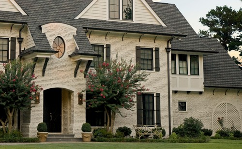 Things That Inspire: Painted brick houses: what color to paint the ...