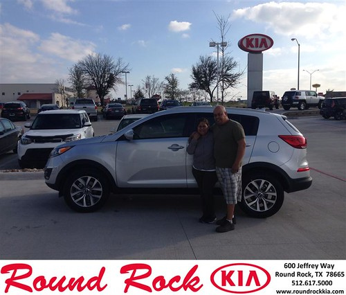 Thank you to Luis & Mirna Arteaga on your new 2014 #Kia #Sportage from Jorge Benavides and everyone at Round Rock Kia! #NewCar by RoundRockKia