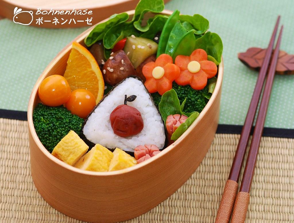 Umeboshi Apple Onigiri Bento