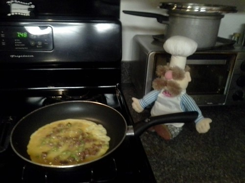 omlete cooking
