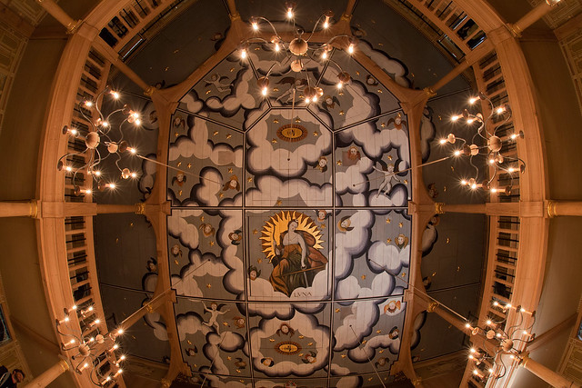 The ceiling of the Sam Wanamaker Playhouse at Shakespeare's Globe © Pete Le May, 2014