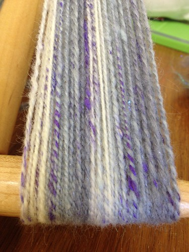 Stripes. 80 yards/2oz wool mohair silk sparkle