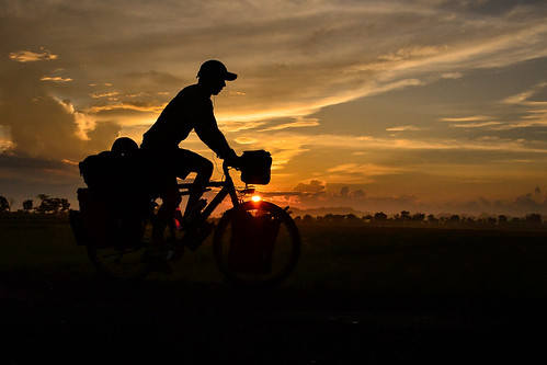 Just another beautiful sunrise cycling Sulawesi