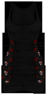 [NEW ON SALE!] *P* Nya MESH Dress ~Rockabilly~ Black FRONT