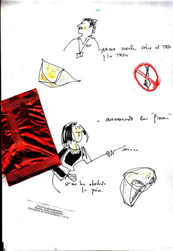 dibujando en el TEDx