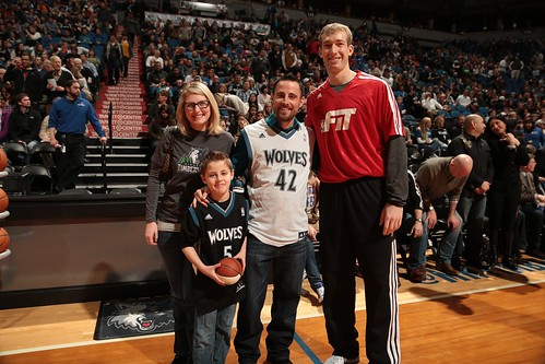 Hanging out with Robbie Hummel from the Minnesota Timberwolves.