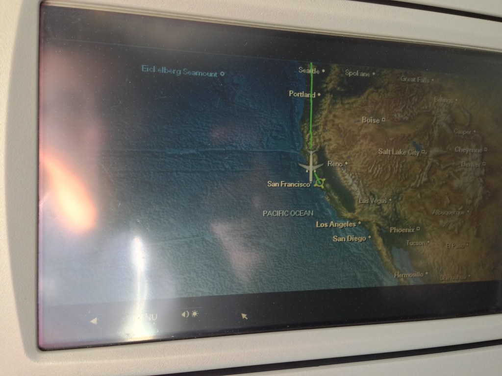 Inflight moving map