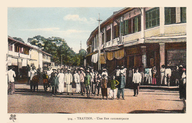 Travinh - Rue commercante 1925