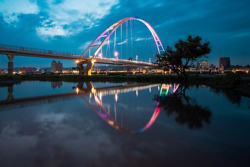 landscape taiwan taipei nightview 台灣 voigtlanderultrawideheliar12mmf56 新莊區 新北市 fujifilmxt1 新月橋