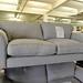 Large 3 seater ash fabric sofa
