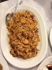 Orzo with seafood