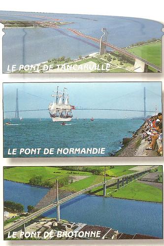 Normandie Ansichtskarte Seine-Brücke