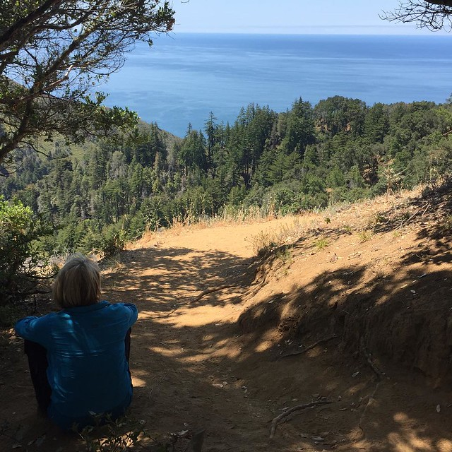 Hiking in Big Sur with @heringers - View of the Ocean