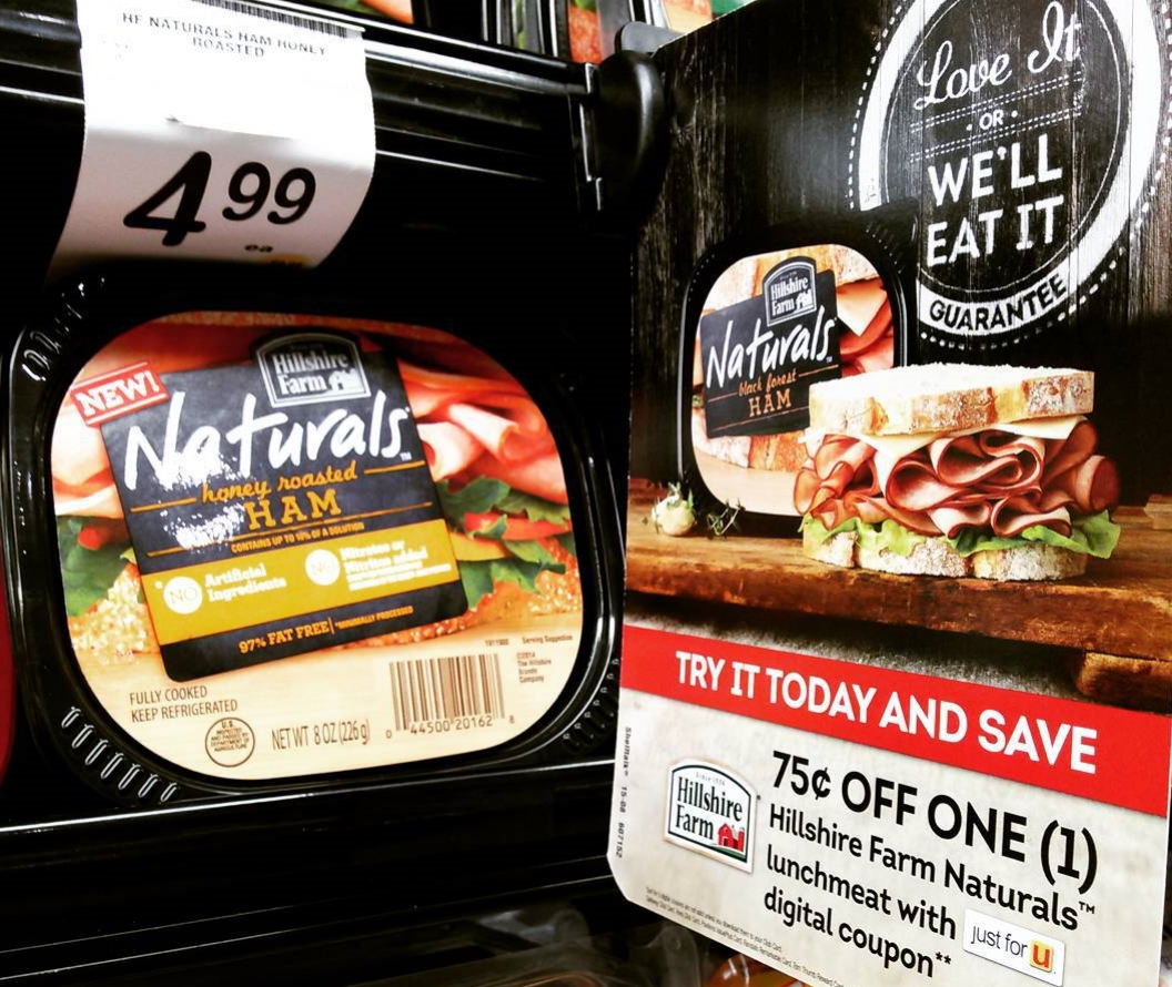 75 cents off one Hillshire Farm Naturals lunchmeat with Just4U digital coupon at Tom Thumb